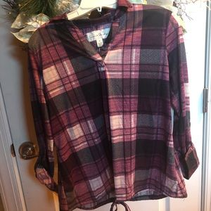 Plaid Shirt, Brand New with Tags, women's small